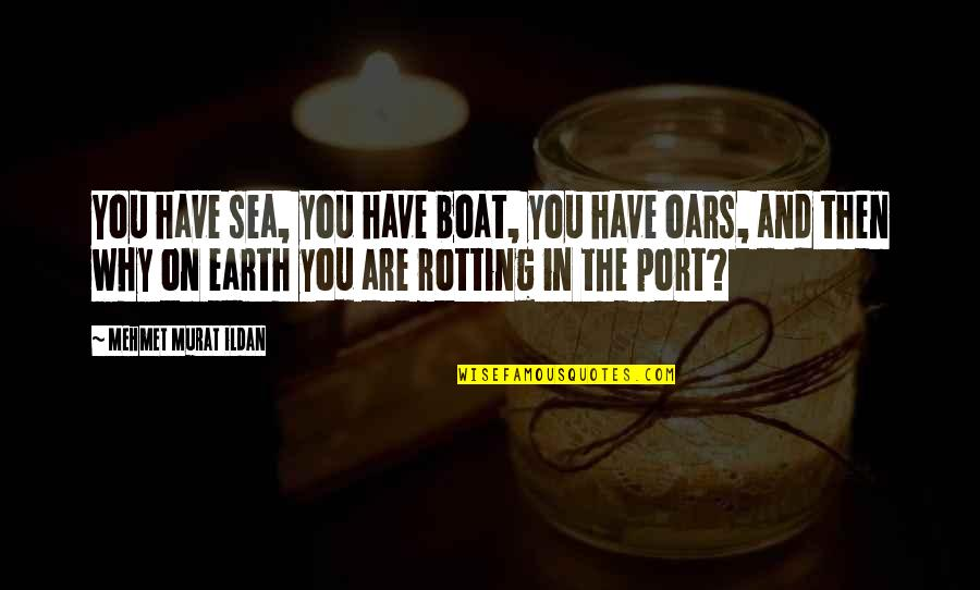 Oars Quotes By Mehmet Murat Ildan: You have sea, you have boat, you have