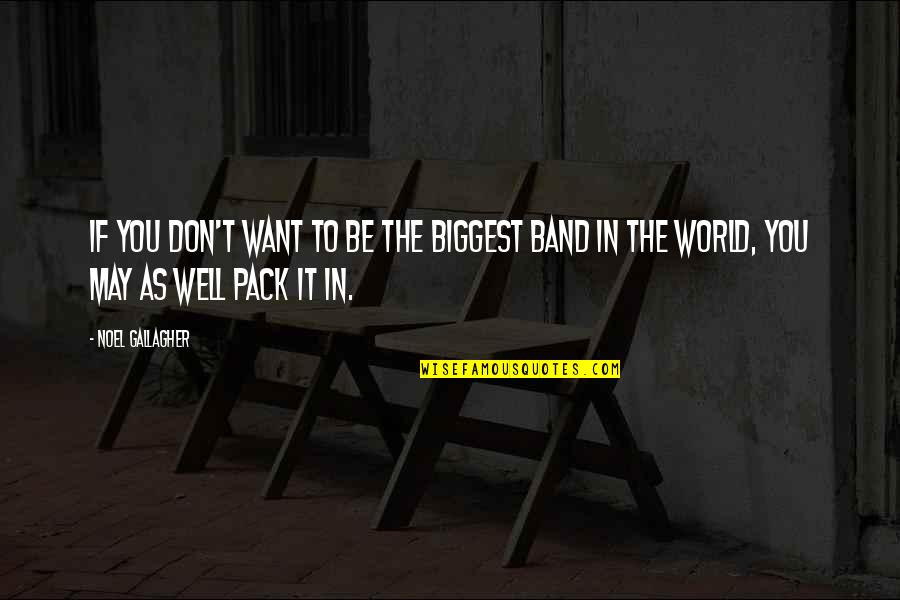 Oasis Band Quotes By Noel Gallagher: If you don't want to be the biggest