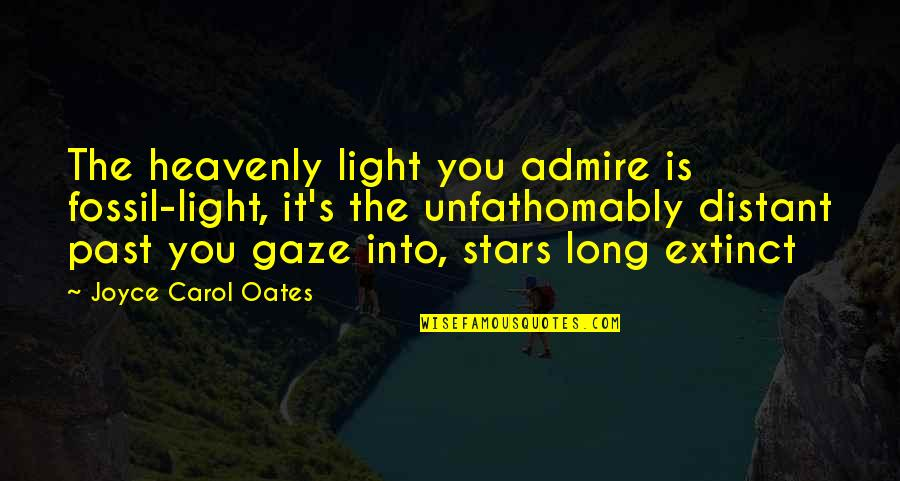 Oates Quotes By Joyce Carol Oates: The heavenly light you admire is fossil-light, it's