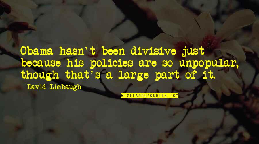 Obama's Most Divisive Quotes By David Limbaugh: Obama hasn't been divisive just because his policies