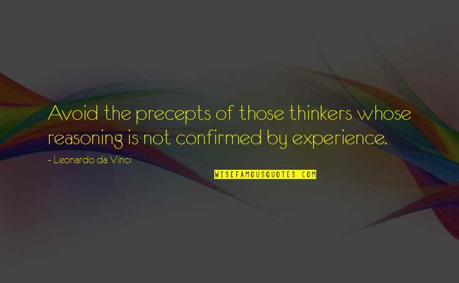 Obtain Auto Insurance Quotes By Leonardo Da Vinci: Avoid the precepts of those thinkers whose reasoning