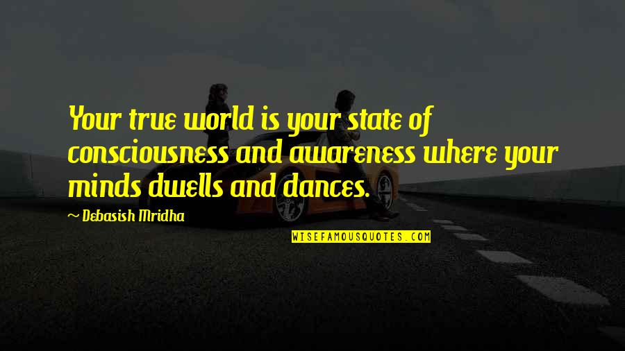 October Tumblr Quotes By Debasish Mridha: Your true world is your state of consciousness