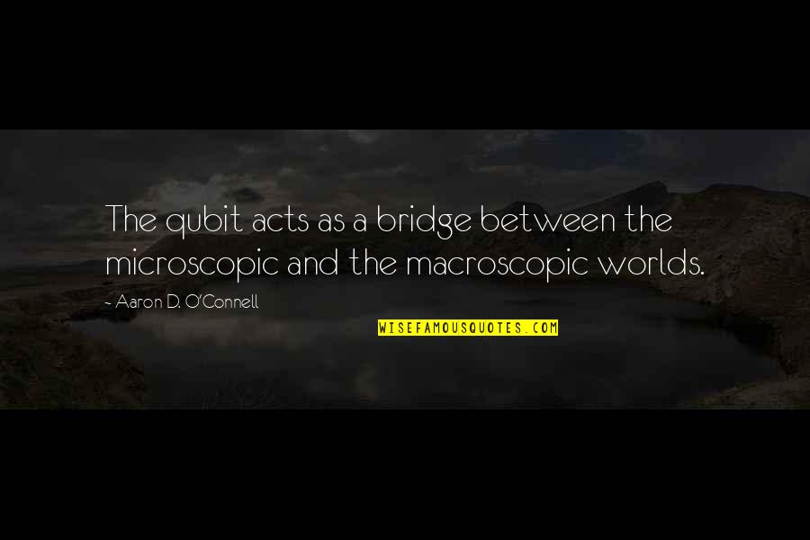 O'ercharg'd Quotes By Aaron D. O'Connell: The qubit acts as a bridge between the