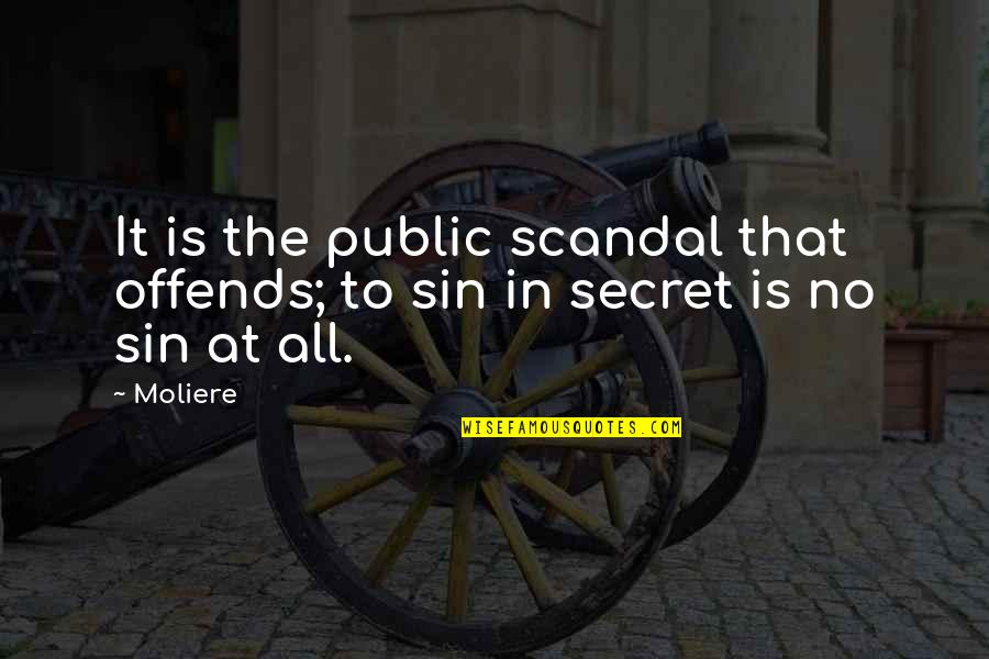 Offends Quotes By Moliere: It is the public scandal that offends; to