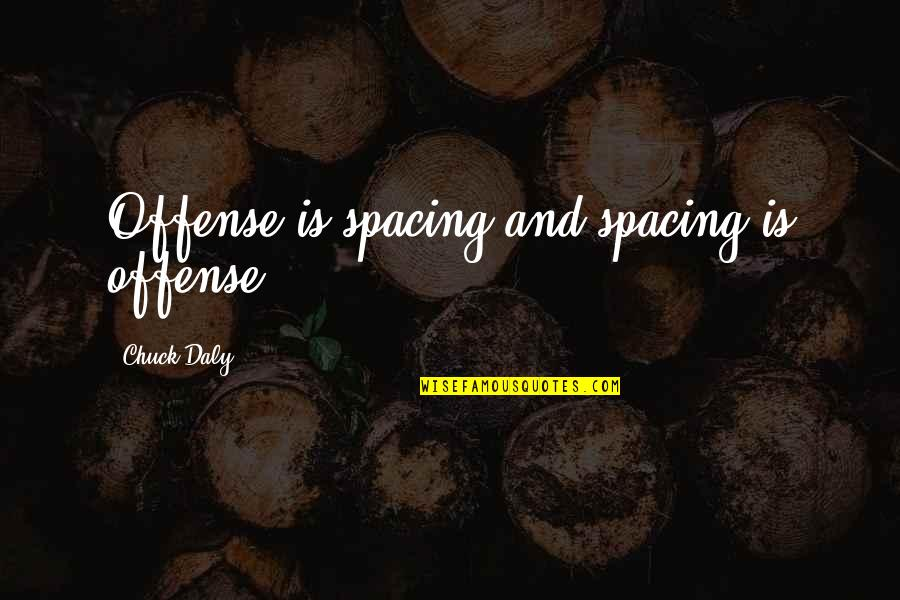 Offense In Basketball Quotes By Chuck Daly: Offense is spacing and spacing is offense.