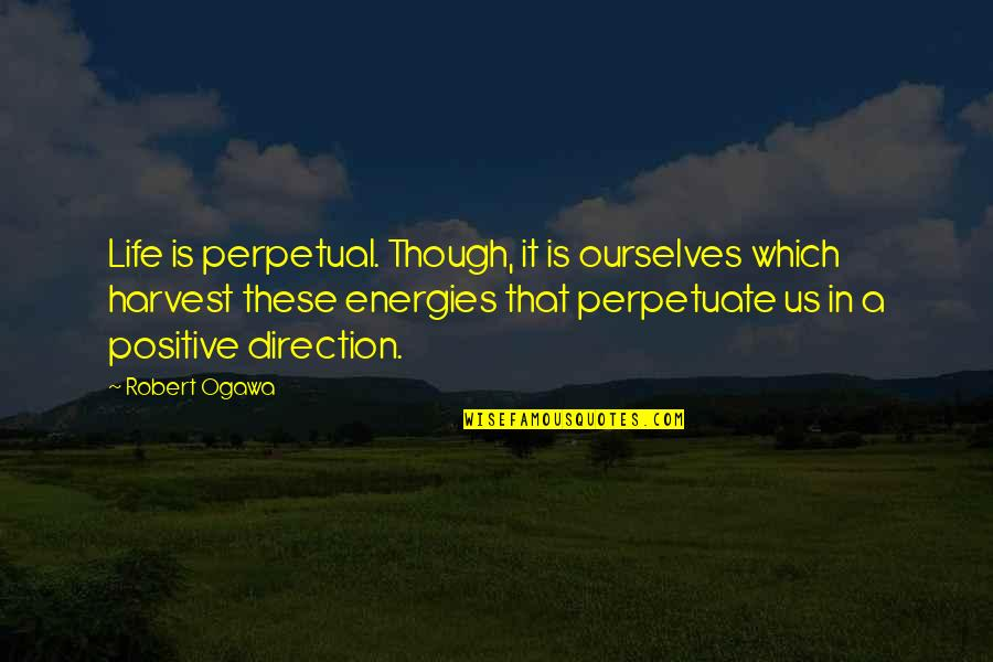 Ogawa Quotes By Robert Ogawa: Life is perpetual. Though, it is ourselves which