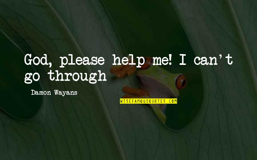Oh God Please Help Me Quotes By Damon Wayans: God, please help me! I can't go through