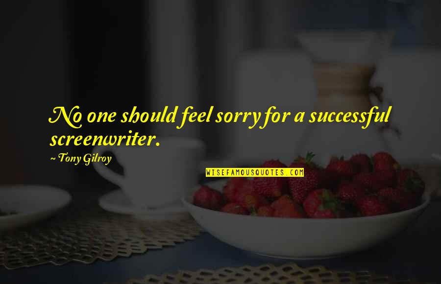 Oh I'm So Sorry Quotes By Tony Gilroy: No one should feel sorry for a successful