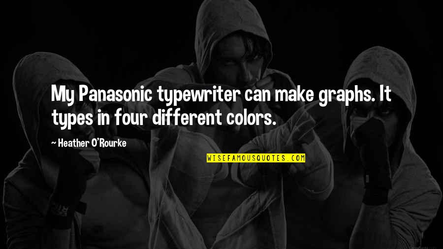 O'harlots Quotes By Heather O'Rourke: My Panasonic typewriter can make graphs. It types