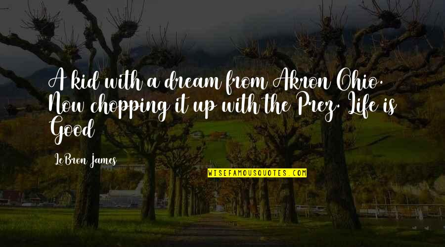 Ohio Quotes By LeBron James: A kid with a dream from Akron Ohio.