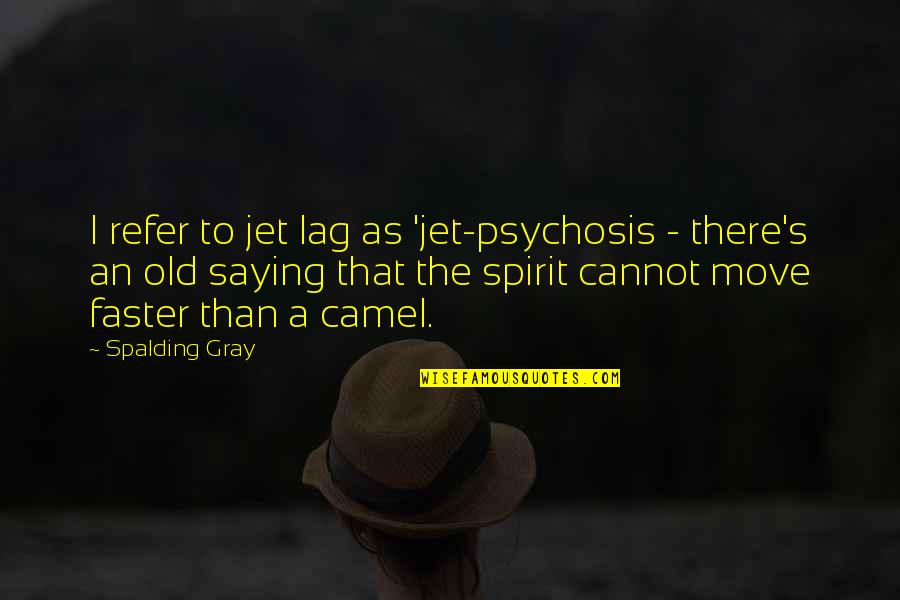 Older Boyfriends Quotes By Spalding Gray: I refer to jet lag as 'jet-psychosis -