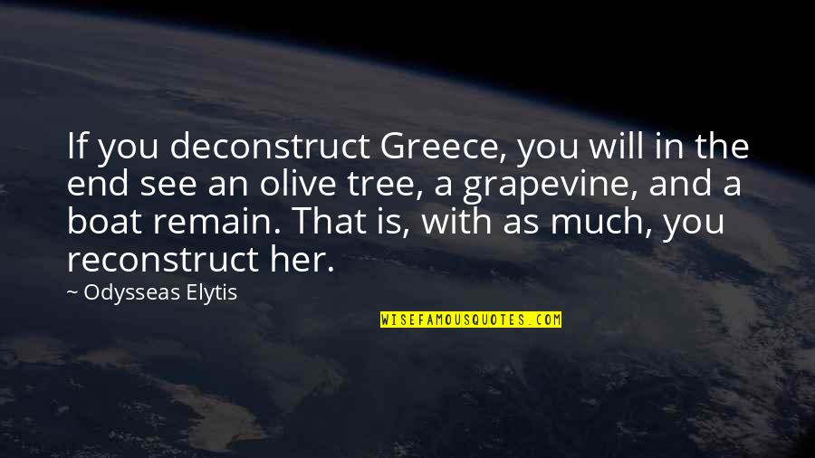 Olive You Quotes By Odysseas Elytis: If you deconstruct Greece, you will in the