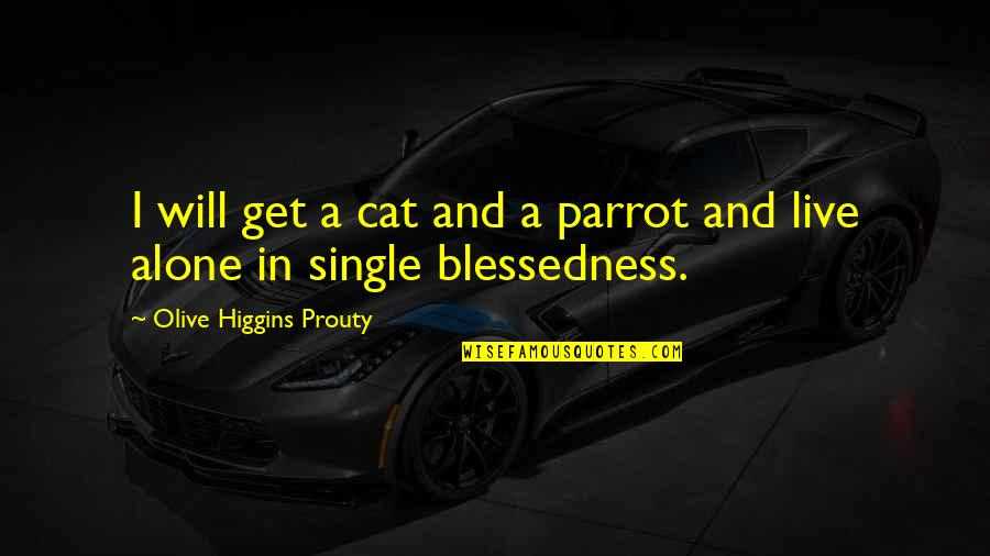 Olive You Quotes By Olive Higgins Prouty: I will get a cat and a parrot