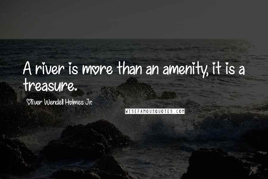 Oliver Wendell Holmes Jr. quotes: A river is more than an amenity, it is a treasure.