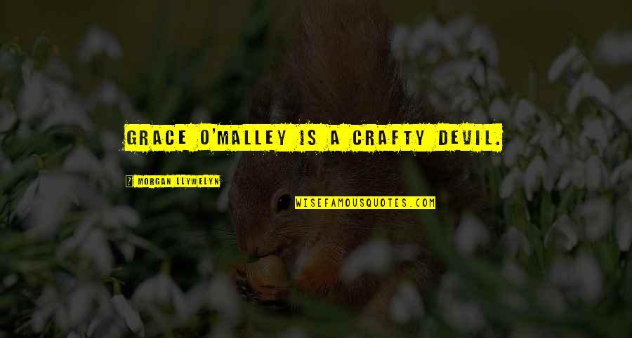 O'malley Quotes By Morgan Llywelyn: Grace O'Malley is a crafty devil.