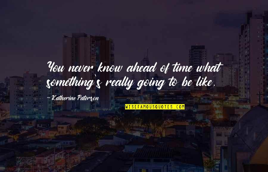 Omar The Wire Quotes By Katherine Paterson: You never know ahead of time what something's