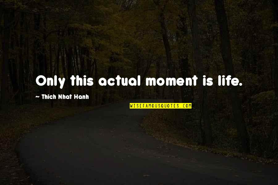 Onarchy Quotes By Thich Nhat Hanh: Only this actual moment is life.
