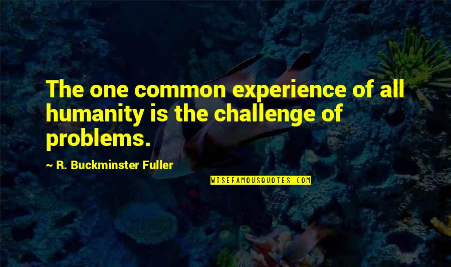 One Decision Quotes By R. Buckminster Fuller: The one common experience of all humanity is