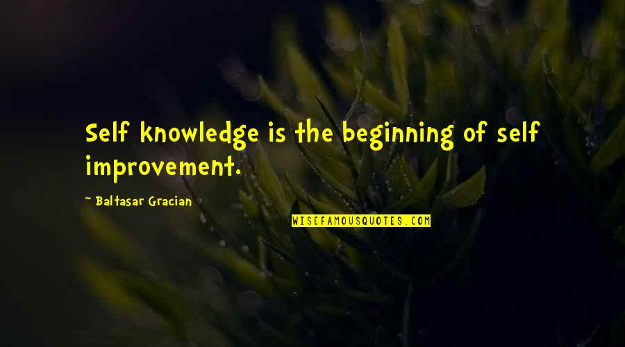 One Percenters Quotes By Baltasar Gracian: Self knowledge is the beginning of self improvement.