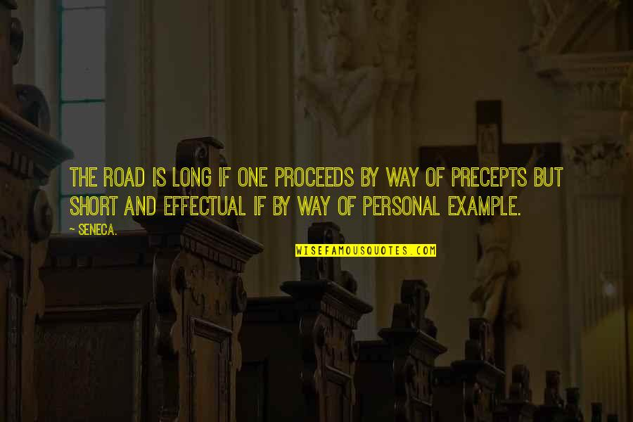 One Way Road Quotes By Seneca.: The road is long if one proceeds by