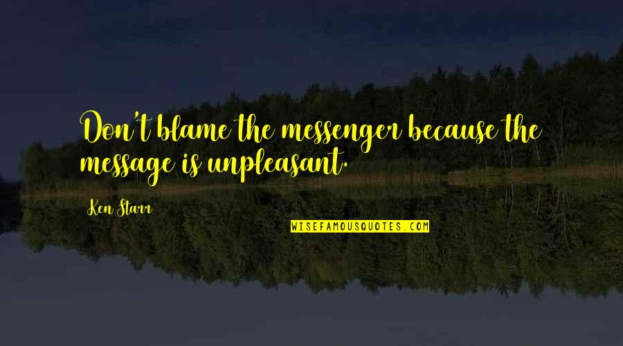 Online Printer Quotes By Ken Starr: Don't blame the messenger because the message is
