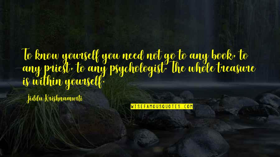 Only Need Yourself Quotes By Jiddu Krishnamurti: To know yourself you need not go to