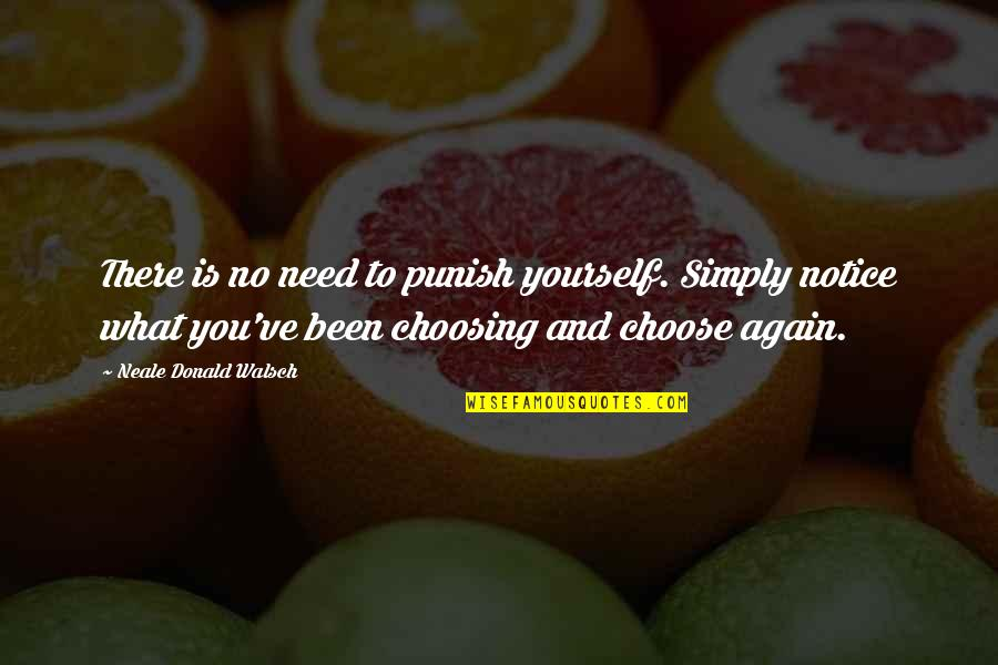 Only Need Yourself Quotes By Neale Donald Walsch: There is no need to punish yourself. Simply