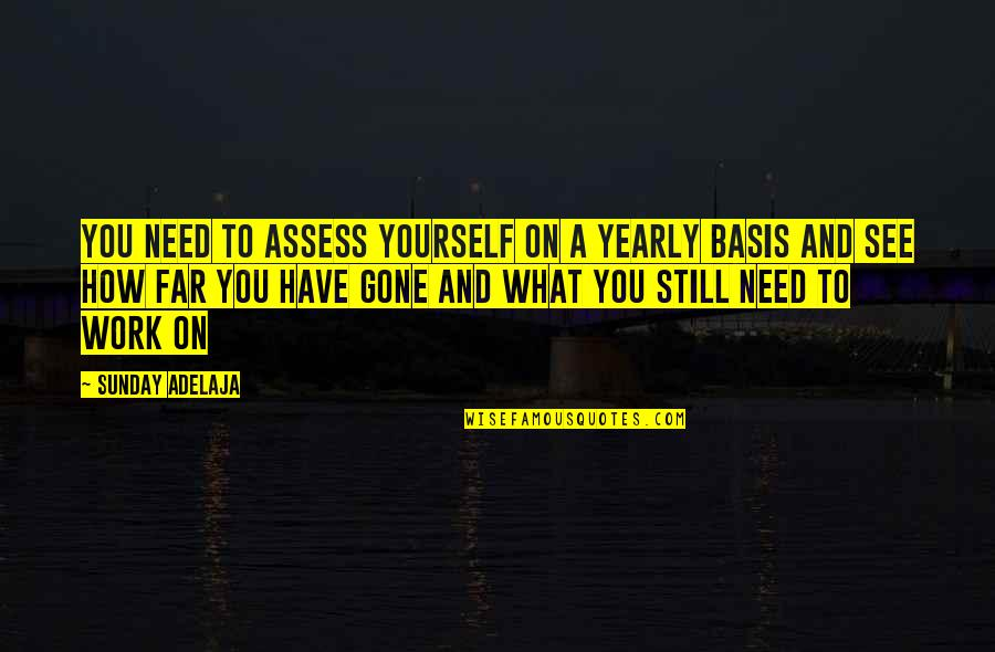 Only Need Yourself Quotes By Sunday Adelaja: You need to assess yourself on a yearly