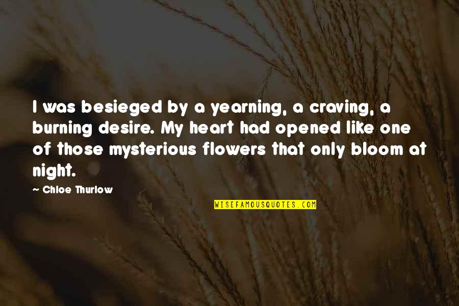 Only One Love Quotes By Chloe Thurlow: I was besieged by a yearning, a craving,
