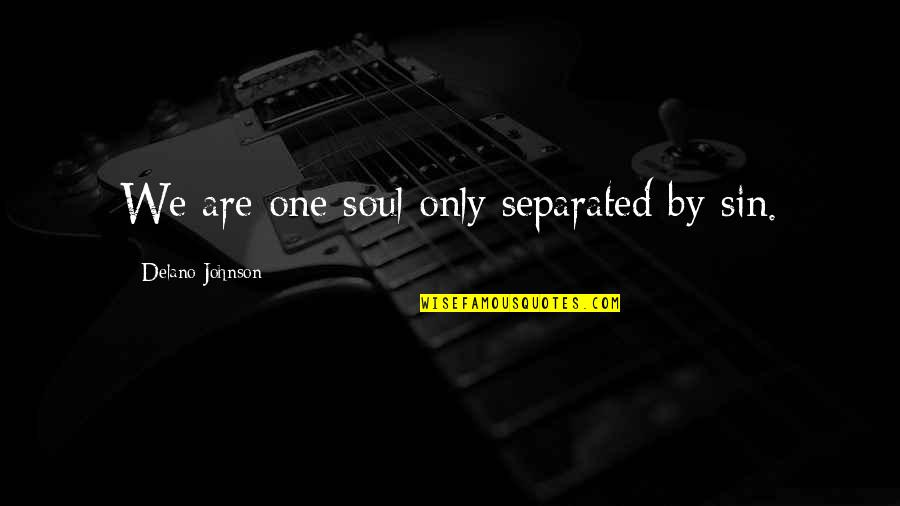 Only One Love Quotes By Delano Johnson: We are one soul only separated by sin.
