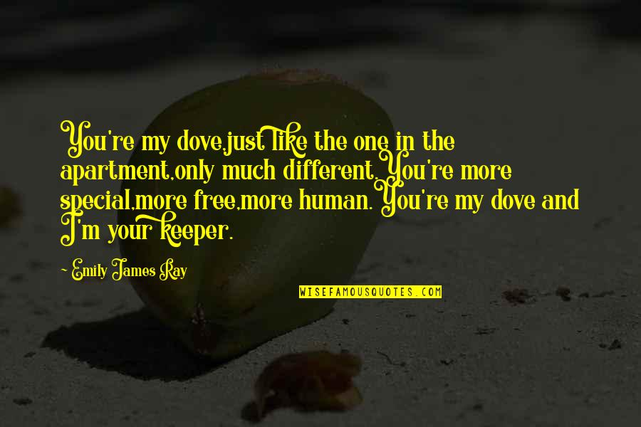 Only One Love Quotes By Emily James Ray: You're my dove,just like the one in the