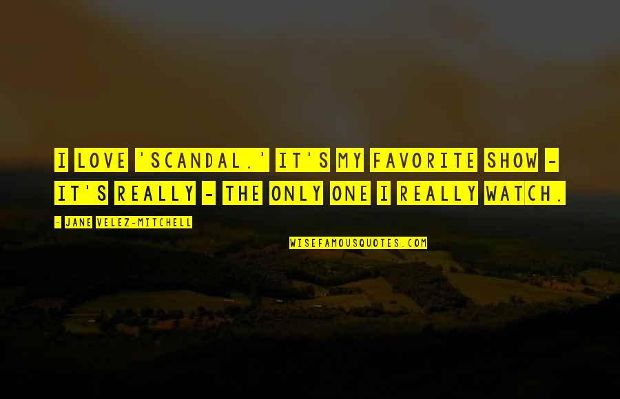 Only One Love Quotes By Jane Velez-Mitchell: I love 'Scandal.' It's my favorite show -