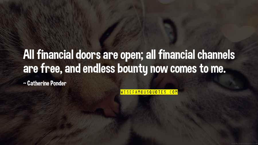 Open Doors Quotes By Catherine Ponder: All financial doors are open; all financial channels