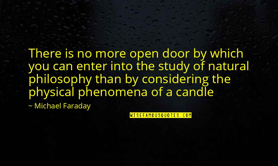 Open Doors Quotes By Michael Faraday: There is no more open door by which