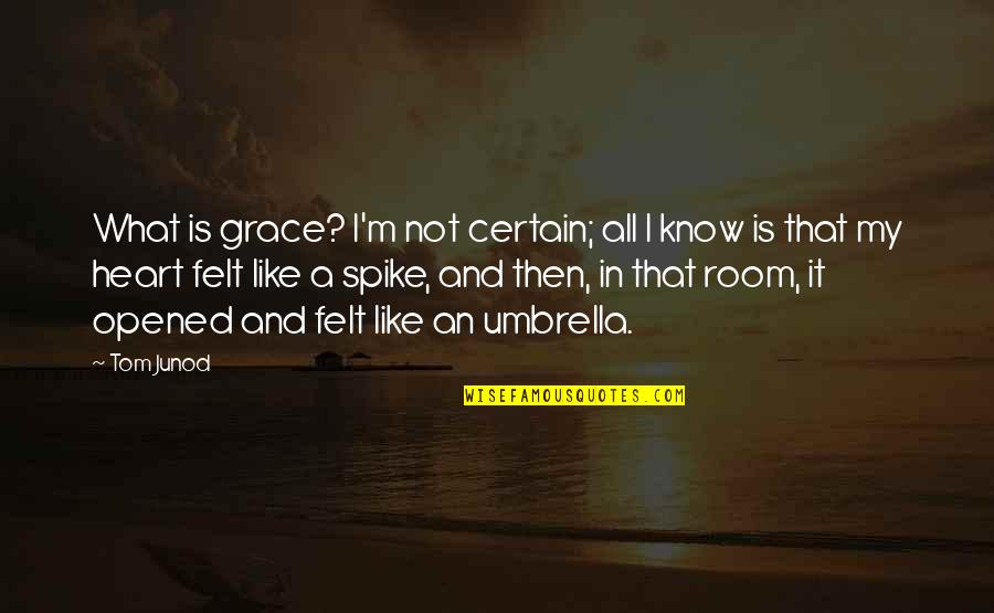 Opened My Heart Quotes By Tom Junod: What is grace? I'm not certain; all I