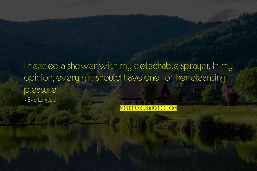 Opinion Not Needed Quotes By Eve Langlais: I needed a shower with my detachable sprayer.