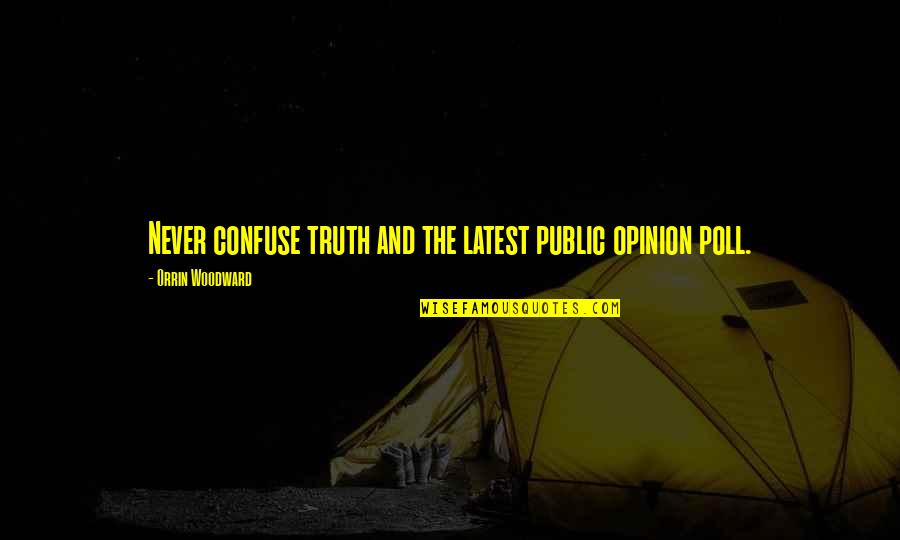 Opinion Poll Quotes By Orrin Woodward: Never confuse truth and the latest public opinion