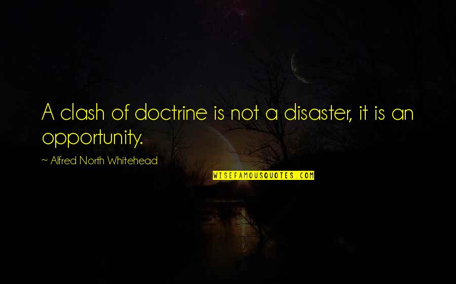 Opportunity And Education Quotes By Alfred North Whitehead: A clash of doctrine is not a disaster,