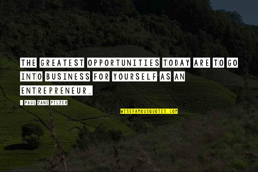 Opportunity In Business Quotes By Paul Zane Pilzer: The greatest opportunities today are to go into