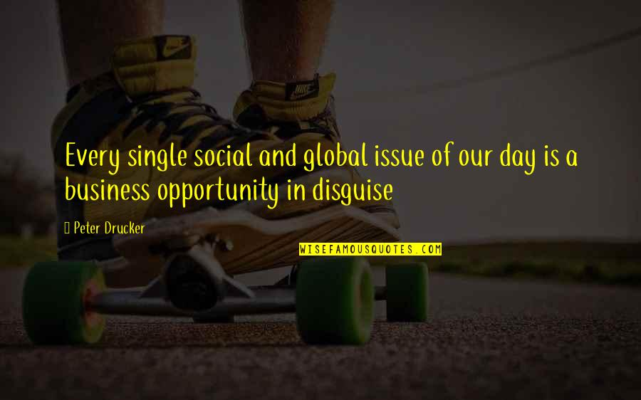 Opportunity In Business Quotes By Peter Drucker: Every single social and global issue of our