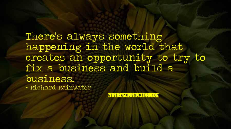 Opportunity In Business Quotes By Richard Rainwater: There's always something happening in the world that