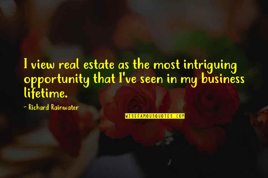 Opportunity In Business Quotes By Richard Rainwater: I view real estate as the most intriguing