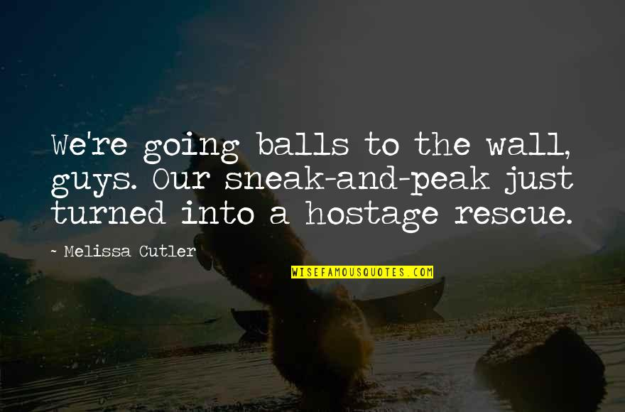 Ops Quotes By Melissa Cutler: We're going balls to the wall, guys. Our
