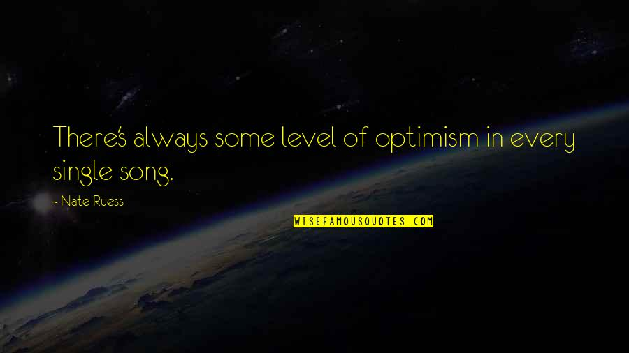 Optimism's Quotes By Nate Ruess: There's always some level of optimism in every