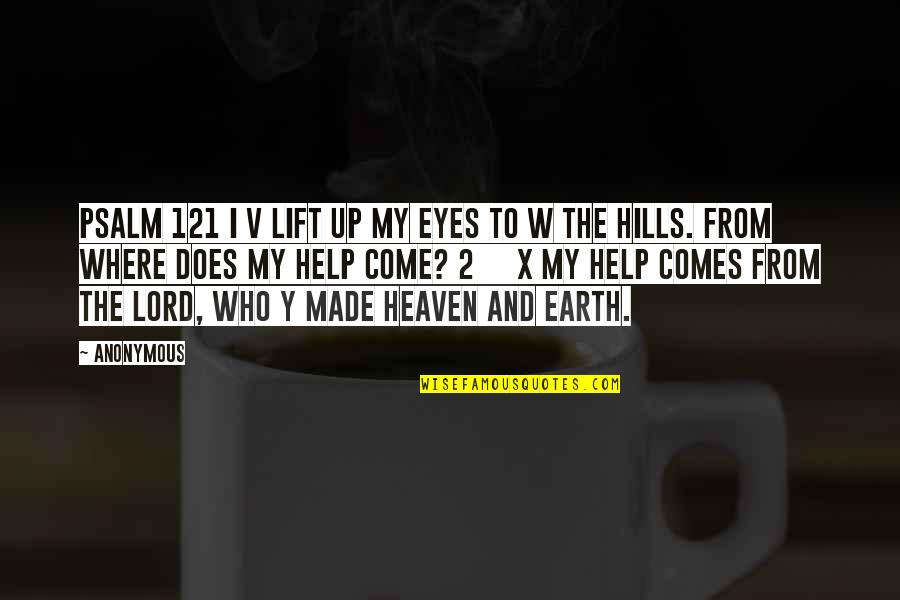 Oracle Password Quotes By Anonymous: PSALM 121 I v lift up my eyes