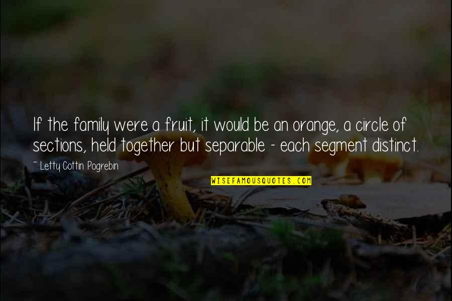 Orange Is The Only Fruit Quotes By Letty Cottin Pogrebin: If the family were a fruit, it would