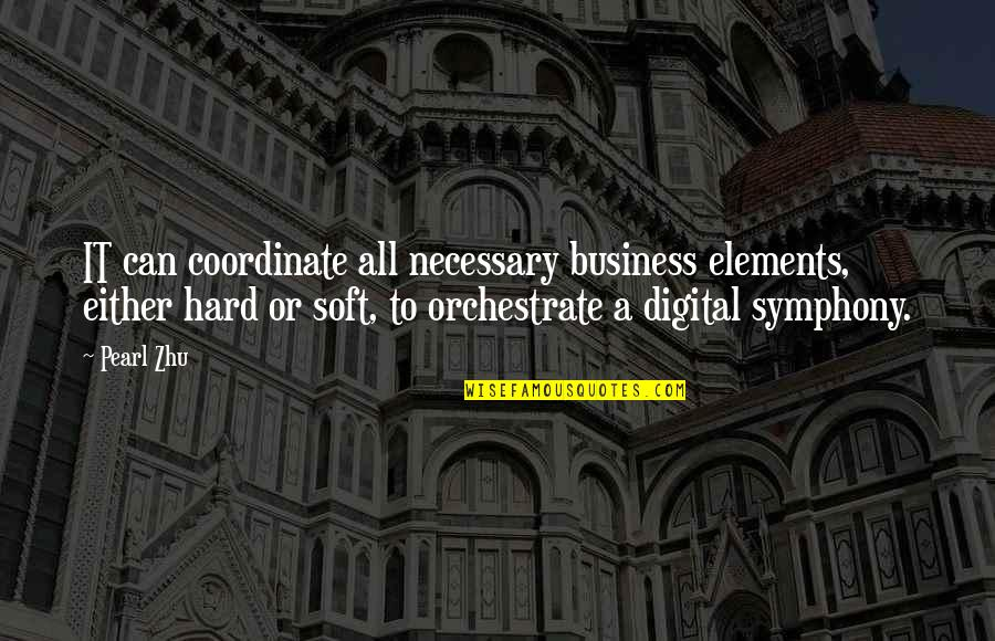Orchestrate Quotes By Pearl Zhu: IT can coordinate all necessary business elements, either