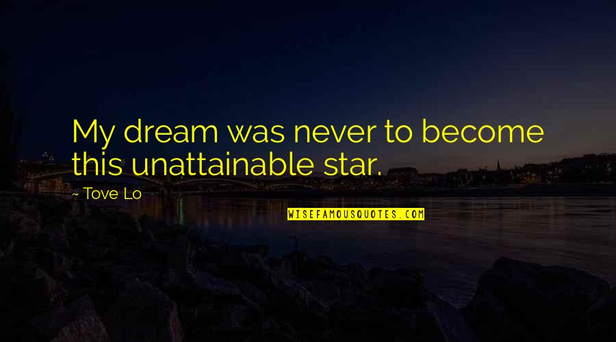 Organic Compounds Quotes By Tove Lo: My dream was never to become this unattainable