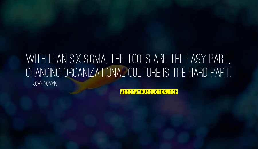 Organizational Quotes By John Novak: With Lean Six Sigma, the tools are the