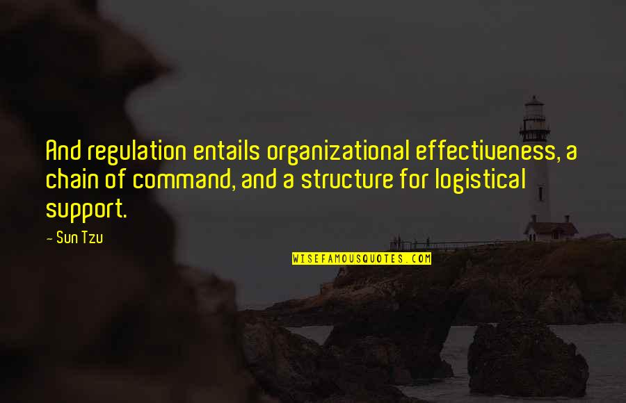 Organizational Quotes By Sun Tzu: And regulation entails organizational effectiveness, a chain of